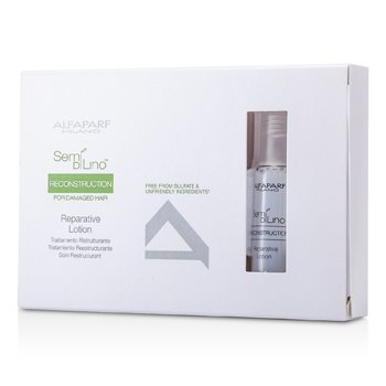 AlfaParf Semi Di Lino Reconstruction Reparative Lotion (For Damaged Hair)  6x13ml/0.43oz