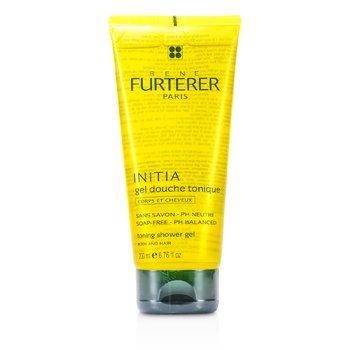 Rene Furterer Initia Toning Shower Gel - Body and Hair (Soap-Free - PH Balanced)  200ml/6.76oz