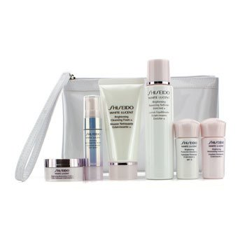 Shiseido White Lucent Set: Cleansing Foam 50ml + Softener 75ml + Serum 9ml + Emulsion 15ml + Emulsion SPF 15 15ml + Cream 18ml + Bag  6pcs+Bag