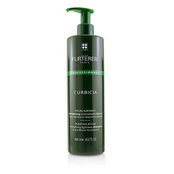 Rene Furterer Curbicia Lightness Regulating Shampoo - For Scalp Prone to Oiliness (Salon Product)  600ml/20.29oz