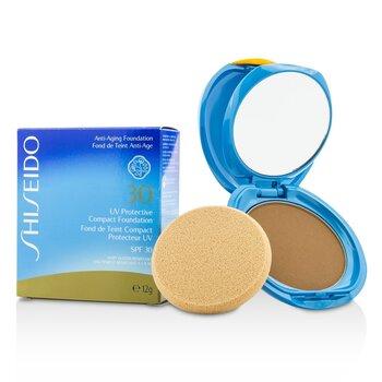 Shiseido UV Protective Compact Foundation SPF 30 (Case+Refill) - # Dark Beige  12g/0.42oz