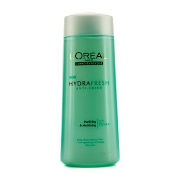 L'Oreal Dermo-Expertise Hydrafresh Anti-Shine Purifying & Mattifying Icy Toner (For Shiny Skin)  200ml/6.7oz