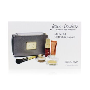 Jane Iredale Starter Kit (6 Pieces): 1xPrimer & Brighter, 1xLoose Mineral Powder, 1xMineral Foundation, ... - # Medium  6pcs