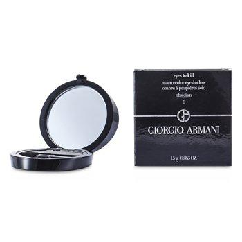 Giorgio Armani Eyes to Kill Sombra de Ojos Individual - # 01 Obsidian  1.5g/0.053oz
