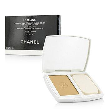 Chanel Base Compacta Le Blanc Light Creator Whitening SPF 25 - # 20 Beige  12g/0.42oz