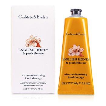 Crabtree & Evelyn English Honey & Peach Blossom Terapia de Manos Ultra Hidratante  100g/3.5oz