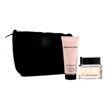 Givenchy Dahlia Noir Coffret: Eau De Parfum Spray 50ml/1.7oz + Body Milk 100ml/3.3oz + Black Pouch  2pcs+1pouch