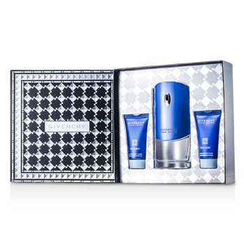 Givenchy Blue Label Coffret: Eau De Toilette Spray 100ml/3.3oz + Gel de Ducha 50ml/1.7oz + B�lsamo Para Despu�s de Afeitar 50ml/1.7oz  3pcs