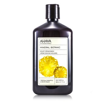 Ahava Mineral Botanic Velvet Cream Wash - Tropical Pineapple & White Peach  500ml/17oz