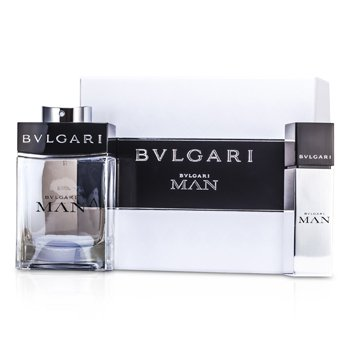 Bvlgari Kit Man: Eau De Toilette Spray 100ml/3.4oz + Eau De Toilette Travel Spray 15ml/0.5oz  2pcs