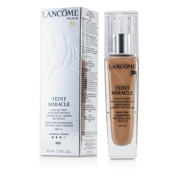 Lancome Teint Miracle Bare Skin Base Creadora de Luz Natural SPF 15 - # 55 Beige Ideal  30ml/1oz