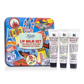 Kiehl's Kit Bálsamo Labial: Bálsamo Labial #1 15ml/0.5oz + Bálsamo Labial #1 Cranberry 15ml/0.5oz + Bálsamo Labial #1 Pêra 15ml/0.5oz  3x15ml/0.5oz