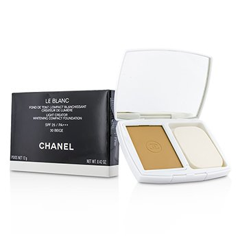 Chanel Le Blanc Light Creator Whitening Compact Foundation SPF 25 - # 30 Beige  12g/0.42oz