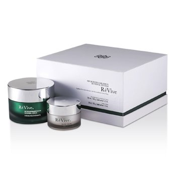 Re Vive Microdermabrasion Renewal System: Renewal Creme 100ml/3.3oz + Gelee Calme 30ml/1oz (White Gift Box)  2pcs