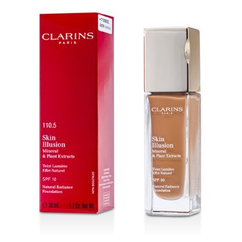 Clarins Skin Illusion Natural Radiance Foundation SPF 10 - # 110.5 Almond  30ml/1.1oz
