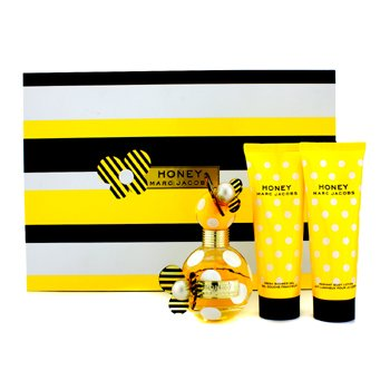 Marc Jacobs Honey Coffret: Eau De Parfum Spray 50ml/1.7oz + Loción Corporal 75ml/2.5oz + Gel de Ducha 75ml/2.5oz  3pcs