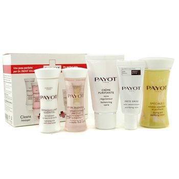 Payot Set de Viaje: Speciale 5 + Crema Purificante+ Demaquillador Esencial + Loción Essentielle + Pate Grise  5pcs