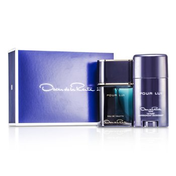 Oscar De La Renta Pour Lui Coffret: Eau De Toilette Spray 90ml/3oz + Deodorant Stick 75ml/2.5oz  2pcs