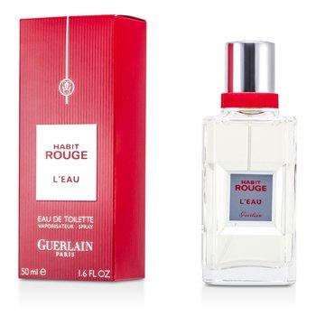 Guerlain Habit Rouge L'Eau Eau De Toilette Spray  50ml/1.6oz