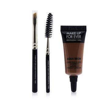 Make Up For Ever Aqua Brow Kit - #20 Light Brown  7ml/0.23oz