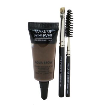 Make Up For Ever Aqua Brow Kit - #30 Dark Brown  7ml/0.23oz