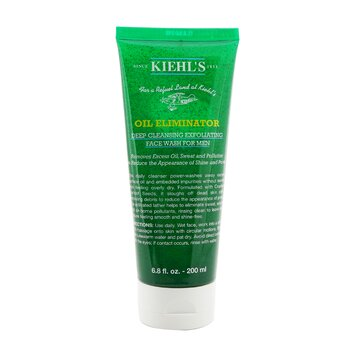 Kiehl's Men's Oil Eliminator Deep Cleansing Exfoliating Face Wash  200ml/6.8oz