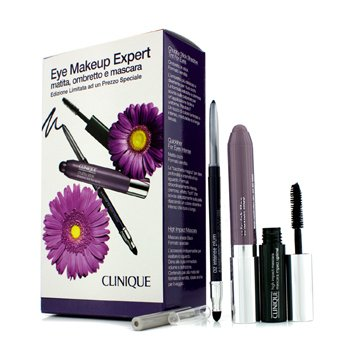 Clinique Eye Makeup Expert (1x Quickliner, 1x Chubby Stick Shadow, 1x High Impact Mascara) - Purple  3pcs