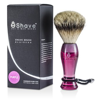 EShave Brocha de Afeitar Larga de Tejón Más Fino - Purple  1pc