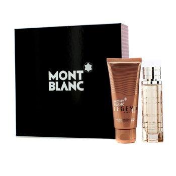 Mont Blanc Legend Pour Femme Kazeta: parfumovaná voda s rozprašovačom 50ml/1.7oz + telové mlieko 100ml/3.3oz  2pcs