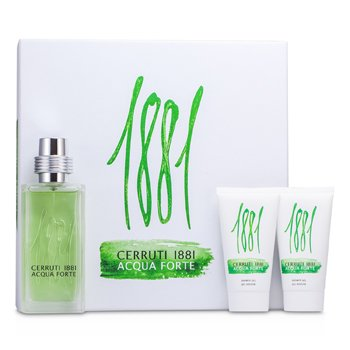 Cerruti Cerruti 1881 Acqua Forte Coffret: Eau De Toilette Spray 75ml/2.5oz + 2x Gel de Ducha 50ml/1.7oz  3pcs