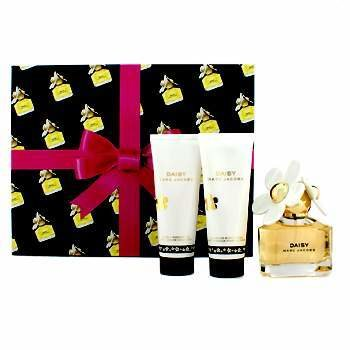 Marc Jacobs Daisy Coffret: Eau De Toilette Spray. 50ml/1.7oz + Body Lotion (Losyen Badan) 75ml/2.5oz + Shower Gel (Gel Mandi) 75ml/2.5oz  3pcs