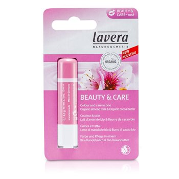 Lavera Bálsamo de Labios - Beauty & Care Rose  4.5g/0.15oz