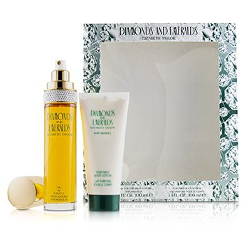 Elizabeth Taylor Diamonds & Emeralds Coffret: Eau De Toilette Spray 100ml/3.3oz + Loción Corporal Perfumada 100ml/3.3oz  2pcs