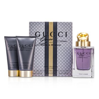 Gucci Kit Made To Measure Travel Collection: Eau De Toilette Spray 90ml/3oz + Bálsamo Pós Barba 50ml/1.6oz + Shampoo 50ml/1.6oz  3pcs