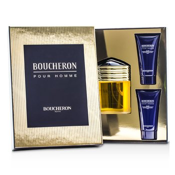 Boucheron Boucheron Coffret: Eau De Parfum Spray 100ml/3.3oz + 2x Soothing After Shave Balm 50ml/1.6oz  3pcs