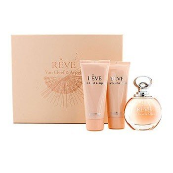 Van Cleef & Arpels Reve Coffret: Eau De Parfum Spray 100ml/3.3oz + Loción Corporal 100ml/3.3oz + Gel de Ducha 100ml/3.3oz  3pcs