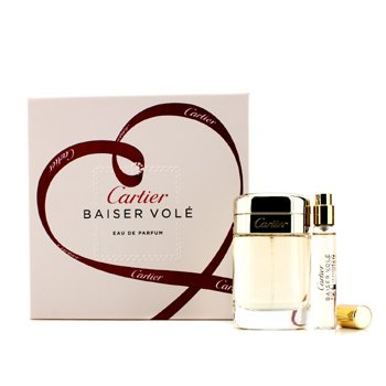 Cartier Baiser Vole Coffret: Eau De Parfum Spray 50ml/1.6oz + Eau De Parfum Spray 9ml/0.3oz  2pcs