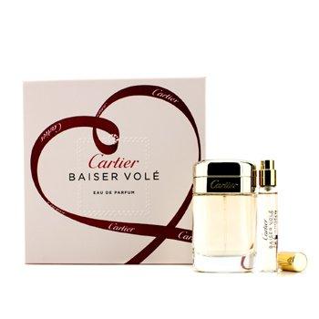 Cartier Baiser Vole Coffret: Eau De Parfum Spray. 50ml/1.6oz + Eau De Parfum Spray. 9ml/0.3oz  2pcs