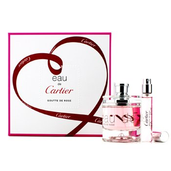 Cartier Eau De Cartier Goutte De Rose Coffret: Eau De Toilette Spray. 50ml/1.6oz + Eau De Toilette Spray. 9ml/0.3oz  2pcs