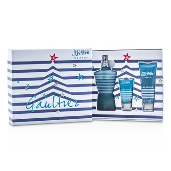 Jean Paul Gaultier Kit Le Male: Eau De Toilette Spray 125ml/4.2oz + Sabonete Liquido 75ml/2.5oz + Loção Pós Barba 30ml/1oz  3pcs