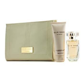 Elie Saab ชุด Le Parfum Coffret: สเปรย์น้ำหอม EDT 50ml/1.6oz + โลชั่นทาผิวกาย 75ml/2.5oz + กระเป๋า Beauty  3ชิ้น+1ใบ
