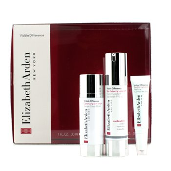 Elizabeth Arden Set Visible Difference: Loci�n Balanceadora SPF15 50ml + Suero 30ml + Gel de Ojos 15ml  3pcs
