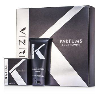Krizia Pour Homme Coffret: Eau De Toilette Spray 30ml/1oz + Champú de Cabello & Cuerpo 100ml/3.38oz  2pcs