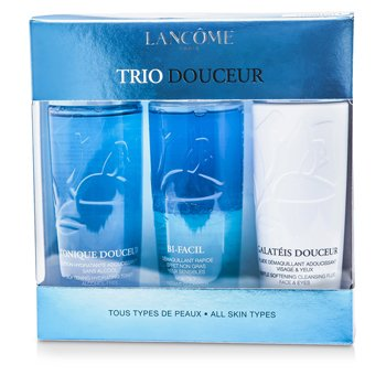 Lancome Trio DouceurTrio Douceur: Bi Facil 125ml + Galateis Douceur 125ml + Tonique Douceur 125ml (Todo Tipo de Piel)  3pcs