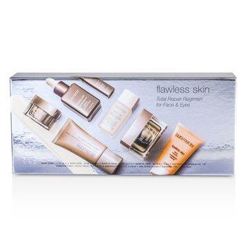Laura Mercier Flawless Skin Régime Reparador Total Para Rostro & Ojos: Crema 30g + Suero 30ml + Removedor de Maquillaje de Ojos 30ml + Pulido Facial 28g + Crema de Ojos 5g + Suero de Ojos 5ml + Primer 30ml  7pcs