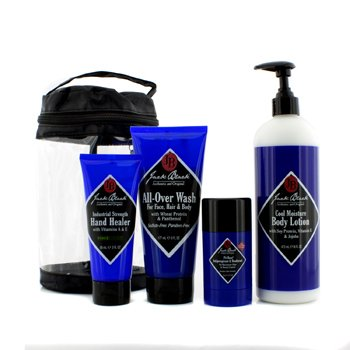 Jack Black �ش Clean & Cool Body Basic Set: �Ӥ������Ҵ���Ǽ�ǡ�� All Over Wash 177ml + ���ا��� Hand Healer 88ml + �Ū�蹷Ҽ�ǡ�� 473ml + ���ЧѺ���蹡�� 78g  4���
