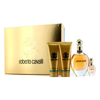 Roberto Cavalli Roberto Cavalli (New) Coffret: Eau De Parfum Spray 75ml/2.5oz + Eau De Parfum Spray 5ml/0.17oz + Body Lotion 75ml/3.5oz + Shower Gel 75ml/2.5oz  4pcs