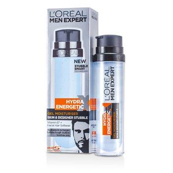 L'Oreal Nawilżający żel na dzień Men Expert Hydra Energetic Skin & Designer Stubble Gel Moisturiser (z pompką)  50ml/1.7oz