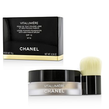 Chanel Vitalumiere Loose Powder Foundation SPF15 With Mini Kabuki Brush - # 10  10g/0.35oz