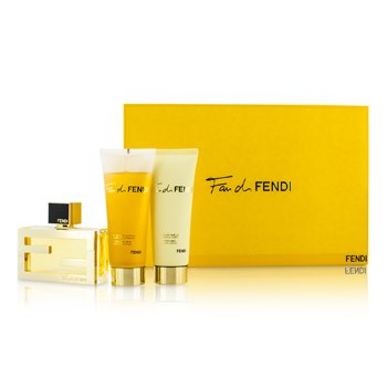 Fendi Kit Fan Di Fendi: Eau De Parfum Spray 50ml/1.7oz + Loção Corporal 75ml/2.5oz + Sabonete Liquido 75ml/2.5oz  3pcs